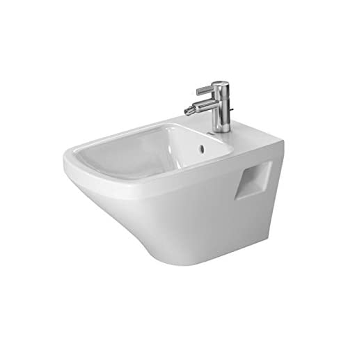 "on sale DuraStyle Bidet wall mounted with overflow, with tap platform 14 5/8"" x 21 1/4"", visible fixation, WGL"