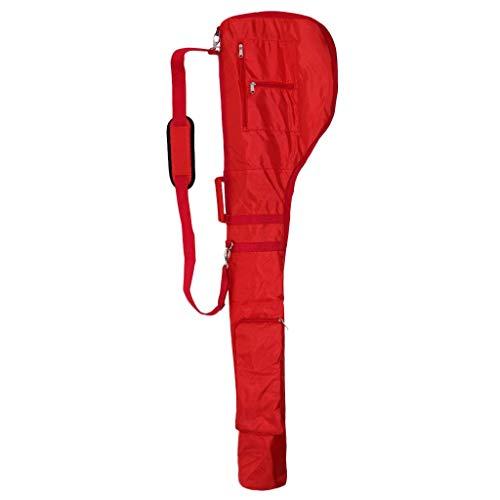 Unbekannt Portable Golf Club Travel Bag Case Sunday Bag Golf Practice Pencil Zipper Pouch with Two Pockets AOD