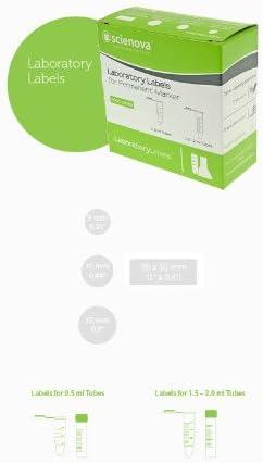 Labor-Etiketten Spenderbox, 9 mm, weiß, 1000 Etiketten pro Rolle, Probenbeschriftung, Etiketten, Label