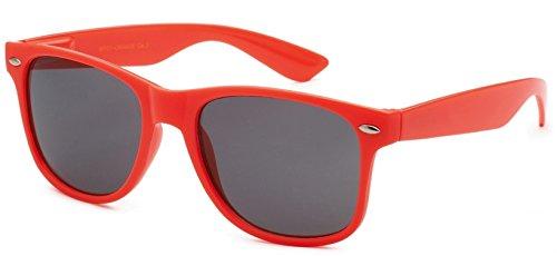 (Sunglasses Classic 80's Vintage Style Design (Orange))