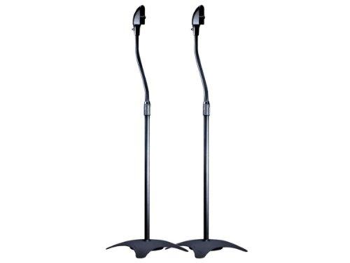 Monoprice Satellite Speaker Floor Stand (Set of 2), Black
