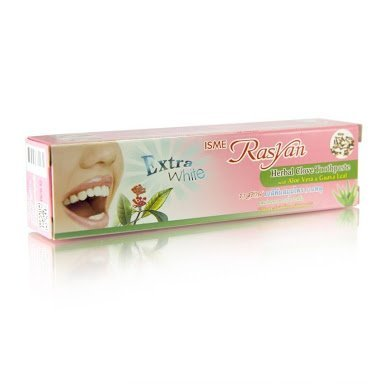 NEW Extra White Isme Rasyan Herbal Clove Toothpaste with Aloe Vera & Guava Leaf (100 g.)