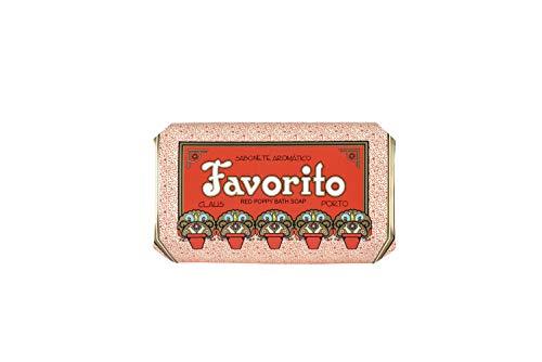 Claus Porto Favorito Bar Soap, Red Poppy, 12.4 Ounce