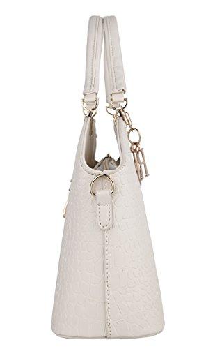 Beige Shoulder Tote 4 Handle Bag Bag XMLiZhiGu PU Crossbody Top Handbag Women's Leather qf7Cg4