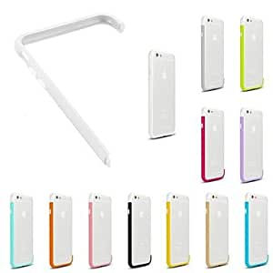 LCJ DIY White Color and Solid Color Combination Design Bumper Frame Case for iPhone 6 (Assorted Colors) , 2