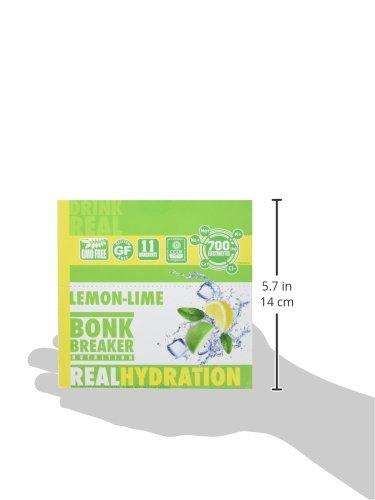 Bonk Breaker Nutrition Real Hydration Electrolyte Drink Powder, Lemon Lime, 20 Count Packets