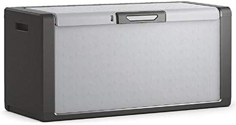 屋外収納 ロッカー ストレージ大容量ツール破片ボックスバルコニーコートヤードヴィラガーデン防水サンプロテクション デッキボックス (色 : グレー, Size : 118x49x55cm)
