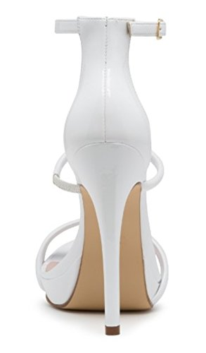 Andreas White Minimalistic Ankle Stiletto High Heels Sandals mMZB17SDc