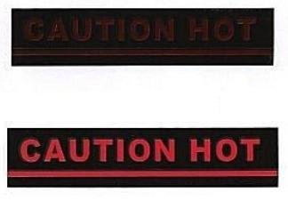 Smart Stickers 'Caution Hot' - 9 Pack