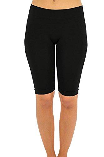 Simlu Womens Workout Pants, Bermuda Leggings for Women,Black,One Size