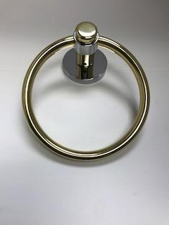 Atlanta (by Baldwin Hardware) Towel Ring - Split Finish - Polished Brass/Polished Chrome (Hardware Baldwin Towel Ring)