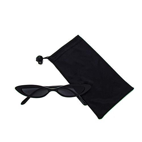 Retro Slim Cat Eye Color Frame Sunglasses (Black Smoke) (Slim Cat Eye Sonnenbrille)