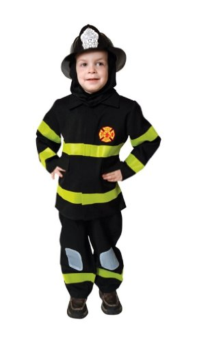 Fire Fighter Costume - Child Costume - Toddler (4T) (3t Firefighter Costume)