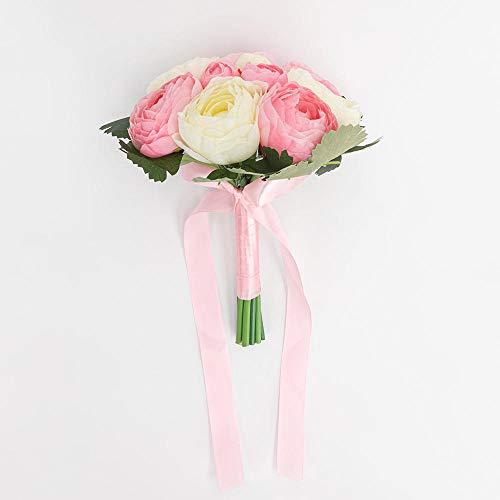 Decoracion de flores falsas Flores artificiales Hermosas flores artificiales de la boda Ramos falsos nupciales Centro de mesa Decoracion para la mesa Suministros de matrimonio de dama de honor hecho