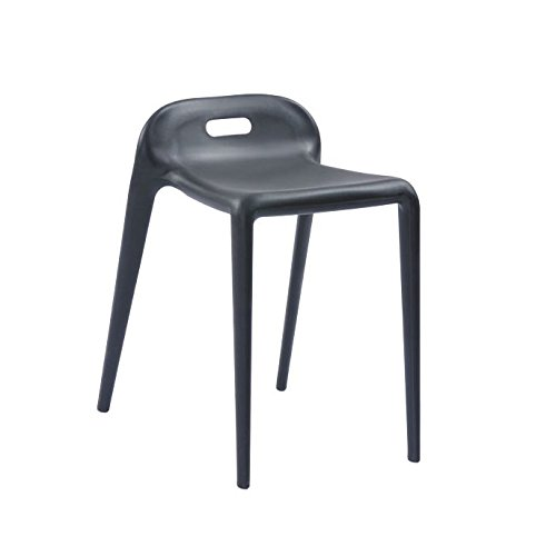 Mod Made E-Z Modern Stacking Stool Chair (2 Pack), Black by Mod Made
