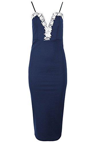 Fashion Star Damen Kleid * Einheitsgröße Navy Y7Wky6c