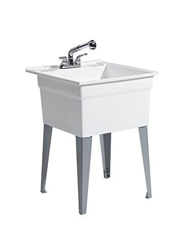 CASHEL 1960-32-21 Sink - Fully Loaded Sink Kit, Steel Leg, White by Cashel