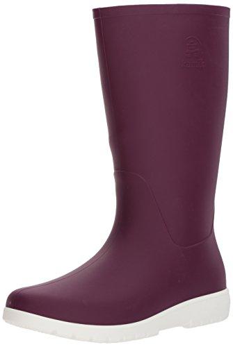 Kamik Womens Jessie Rain Boot, Dark Purple and White, 10 Medium US