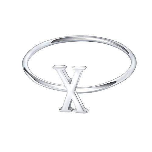 AoedeJ 925 Sterling Silver Stackable Initial Letter for sale  Delivered anywhere in USA