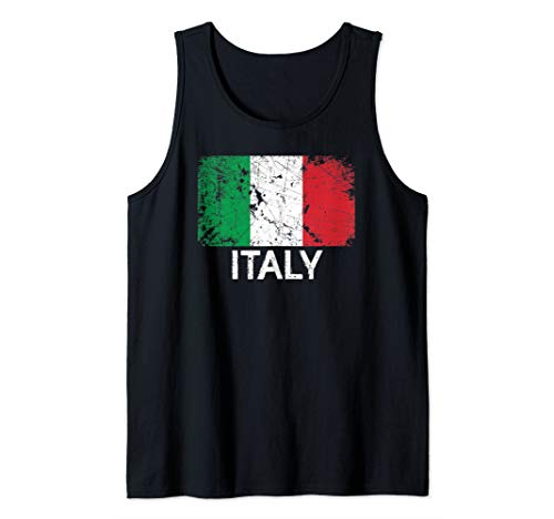 (Italian Flag Design | Vintage Made In Italy Gift Tank Top)