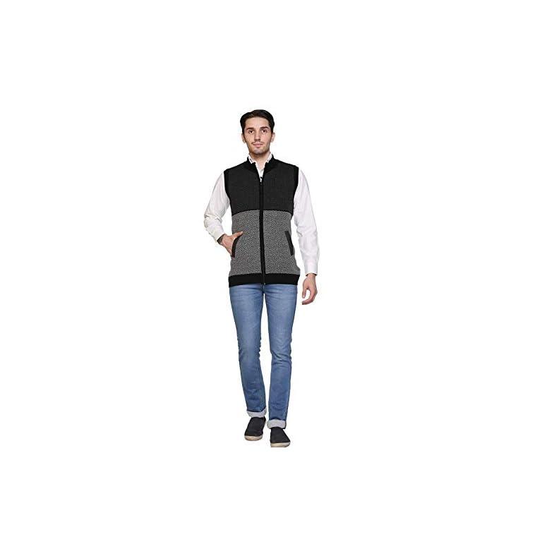 31 3xvWER1L. SS768  - aarbee Sleeveless Zipper Sweater for Men