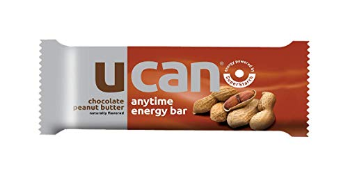 UCAN Energy Bar Box, Chocolate Peanut Butter, Powered by UCAN SuperStarch, Whey Protein, Gluten-Free, No Trans Fats, Naturally Sweetened, 1.5 Ounces, 12 Count by UCAN