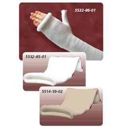 Delta Terry-Net Thumb Spica Liner 3'' (7.6cm) Long Arm - 94% Polyester, 6% nylon/ spandex