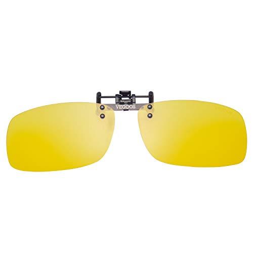 e3701496146 VEGOOS Polarized Clip on Sunglasses for Men Women Flip Up Sunglasses Over  Prescription Glasses