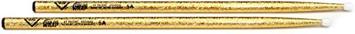 Vater Percussion Color Wrap 5A Drumsticks, Gold Sparkle, Nylon Tip