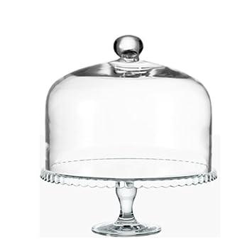 Leonardo Glocke Cupola Mit Knopf 29x22 Cm Mit Tortenplatte Auf Fuß