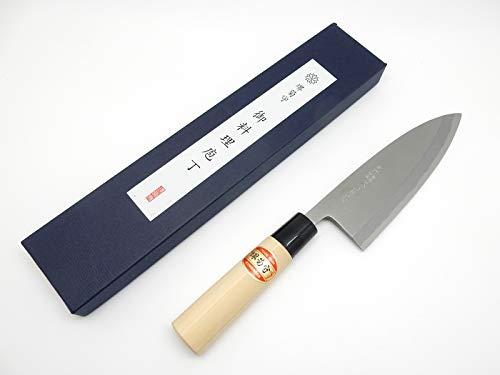 SAKAI KIKUMORI Yasuki White Steel,Kasumi Professional Deba Knife (165mm/6.5'') by SAKAI KIKUMORI (Image #7)