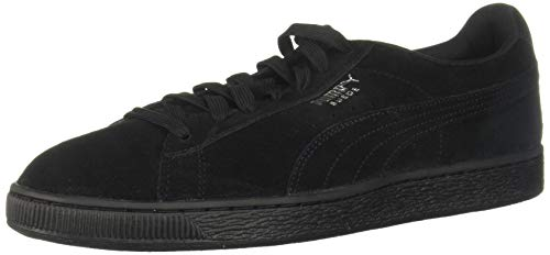 (PUMA Mens' Suede Classic Sneaker,Black, 9.5 M US Men's)
