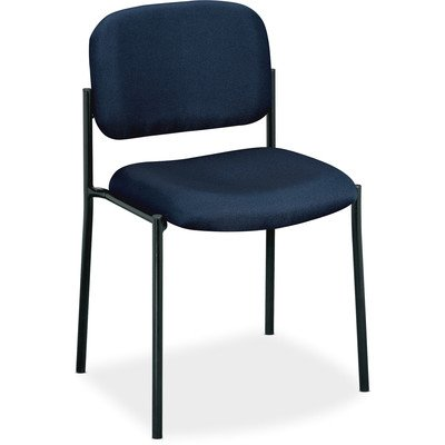 Four-High Armless Office Stacking Chair Seat Finish: Navy by BSX