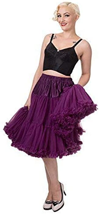 Purple Rockabilly 20 Inches Super Soft 1950/'s Light Petticoat By Banned Apparel