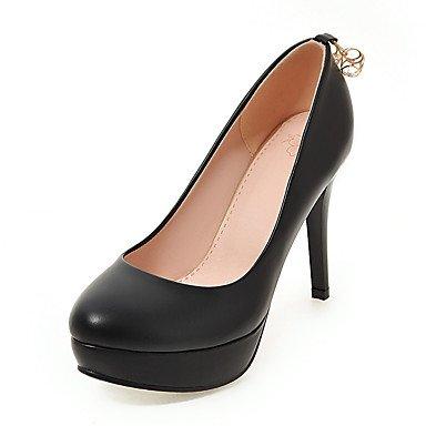Talones de las mujeres Zapatos Primavera Verano Otoño Invierno Club de la PU para oficina y del partido de la carrera y del vestido de noche del tacón de aguja Rhinestone Negro Blanco Rosa Black