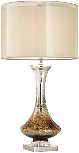 Amber Mercury Glass Table Lamp