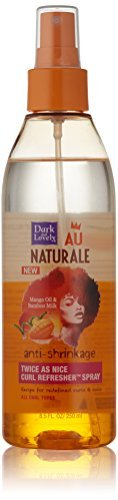 SoftSheen-Carson Dark and Lovely Au Naturale Anti-Shrinkage Twice As Nice Curl Refresher Spray, 8.5 fl oz by Dark & Lovely