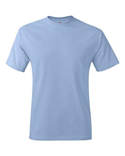 Hanes Herren Asymmetrischer T-Shirt Blau Hellblau M