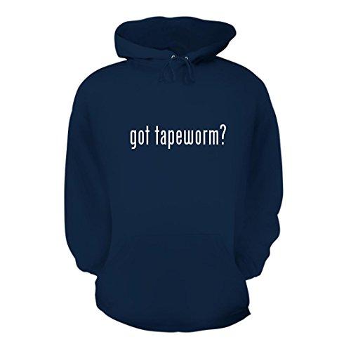 got tapeworm? - A Nice Men's Hoodie Hooded Sweatshirt, Navy, Large