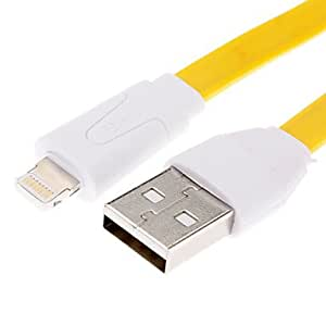 hao Colorful Data Sync and Charging Cable for iPhone 5 (Assorted Colors) , Yellow