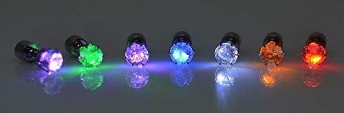 besondere leuchtende Ohrringe f/ür Party bunt CTGVH LED-Ohrringe f/ür M/ädchen//Jungen Coole Ohrringe Geschenk Legierung Jugend Nachtclub 2 St/ück Set Strasssteine Bar