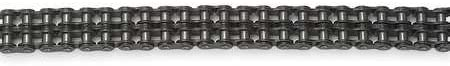 """Tsubaki 100-2RB ANSI Roller Chain, Double Strand, Riveted, Carbon Steel, Inch, #100 ANSI No., 1-1/4"""" Pitch, 3/4"""" Roller Diameter, 3/4"""" Roller Width, 8610lbs Working Load, 10ft Length"""