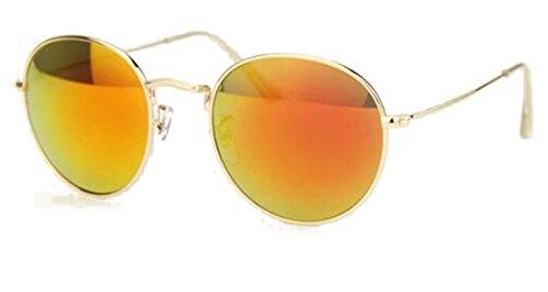 GAMT New Fashion Unisex Vintage Aviator, Designer Reflective Sunglasses - Yellow Rihanna Sunglasses