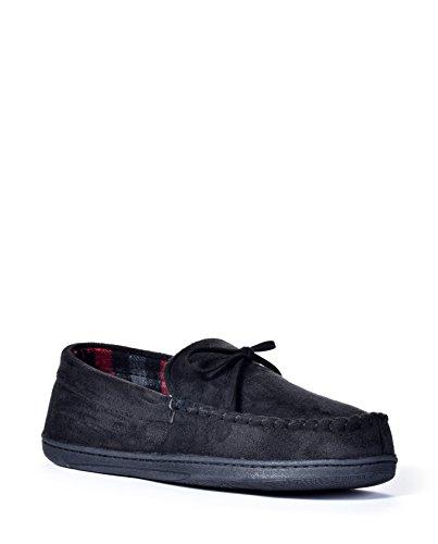 Mens Dockers Dockers Moccasin Slippers (Large, Black)