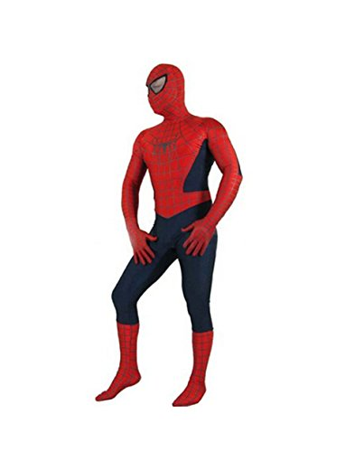 [Koveinc Cosplay Costume for Zentai Bodysuit Fullbody Superhero Zentai Costume] (Spiderman Bodysuit)