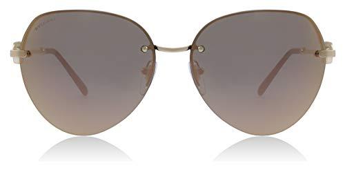 Bvlgari BV6108 20144Z Pink Gold BV6108 Pilot Sunglasses Lens Category 3 Lens ()