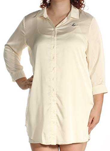 Printed Silk Tunic - kensie Womens Silk Printed Tunic Top White XL