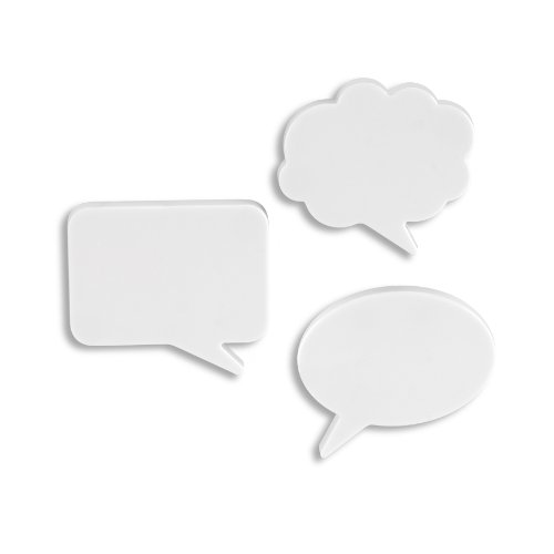 Umbra Talk Bubble Dry-Erase Magnets, Set of 3