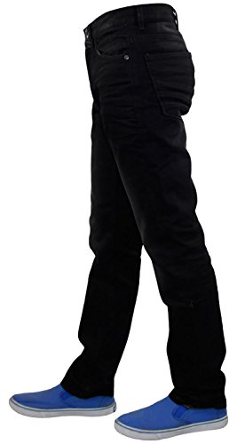 Stretch Bolsillo Crosshatch negro Piedra Cinco Fit Slim Vaqueros Hombres qFBFUt