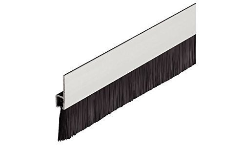 GedoTec® Bürstendichtung Streifenbürste Türbürste mit dichten Besatz | Länge 1250 mm | Türdichtung Aluminium schwarz | Markenqualität für Ihren Wohnbereich